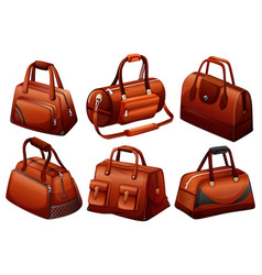 Brown bags in different designs vector