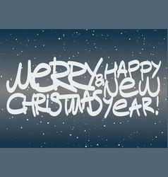 calligraphic hand drawn writing christmas card vector image