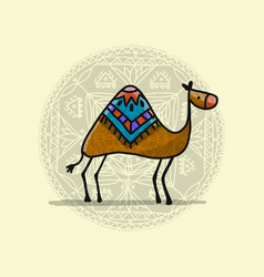 camel sketch for your design vector image