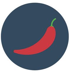 Capsaicin chili icon editable vector