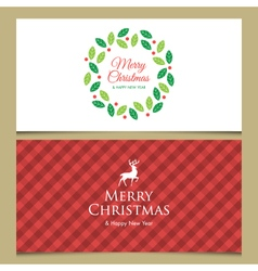 Christmas cards set 2 vector