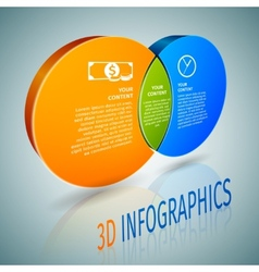 Circle chart 3d infographics vector