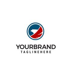 circle eagle head logo designs template vector image