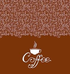 cofee contour vector image