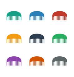 Comb icon white background vector