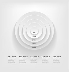 concentrate chart color infographics step by step vector image