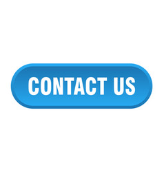 contact us button us rounded blue sign vector image