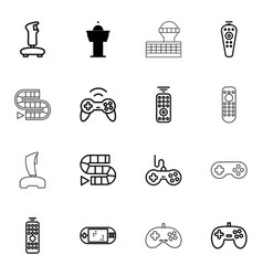 controller icons vector image