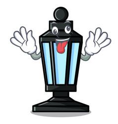 Crazy street lamp mascot cartoon vector