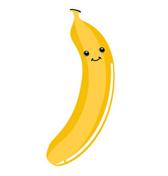 cute banana emoticon vector image