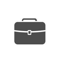 Dark briefcase icon on a white background vector