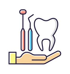 Dental insurance rgb color icon vector