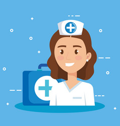 doctor character medical healthcare vector image