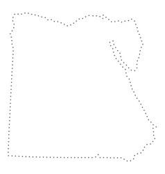 Dot stroke egypt map vector