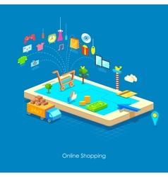 e commerce concept vector image