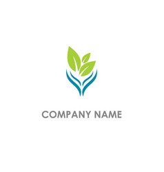 eco leaf organic nature vegan logo vector image