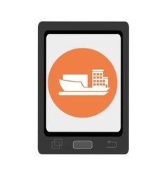 electronic device with commerce icon vector image
