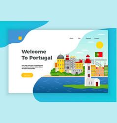 Explore portugal page design vector