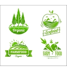 Farm food typography design on white background vector image