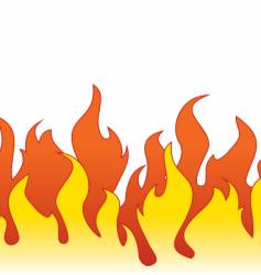 flame border vector image vector image