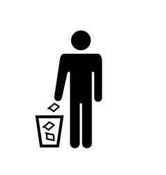 garbage icon element silhouette of a vector image