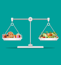 greasy cholesterol vs vitamins food vector image