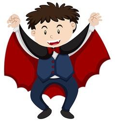 Halloween costume as vampire vector