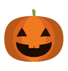 halloween pumpkin smile vector image