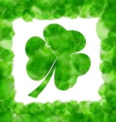 Happy Saint Patricks Day Watercolor Background vector
