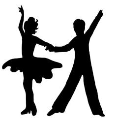 High quality original Pair kids dance isolated on vector