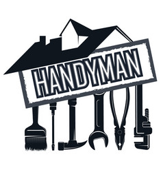 House and tool for repair handyman vector