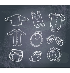 Infant clothes Icon set vector