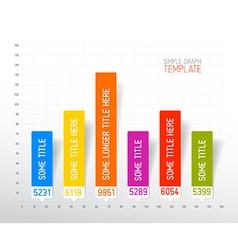 Infographic flat design column graph chart vector image