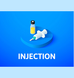 injection isometric icon isolated on color vector image