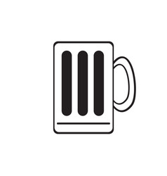 isolated mug outline vector image