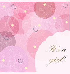 Its a girl modern card design with announcement vector