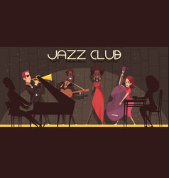 jazz club background composition vector image