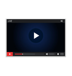 live stream screen video player layout vector image
