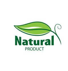 logo natural product vector image