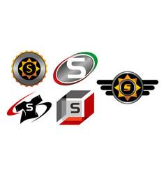 Logotype s modern template set vector