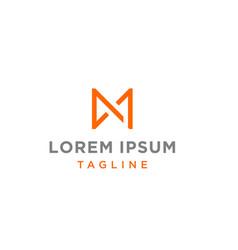 M or am monogram logo vector