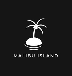 malibu island vector image