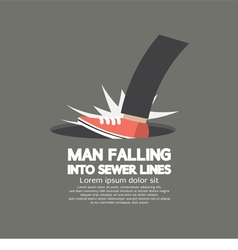 Man Falling Into Sewer Lines vector image