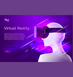 man in virtual reality headset design vector image