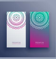 mandala colorful card banner design vector image