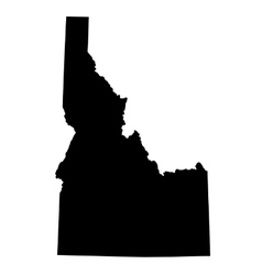 Map of the US state Idaho vector
