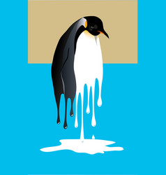 Melting penguin vector