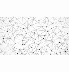 mesh of data array node structure molecular mesh vector image