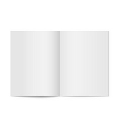 mock up booklet isolated vector image