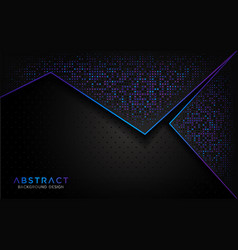 modern abstract background with aurora glitter vector image